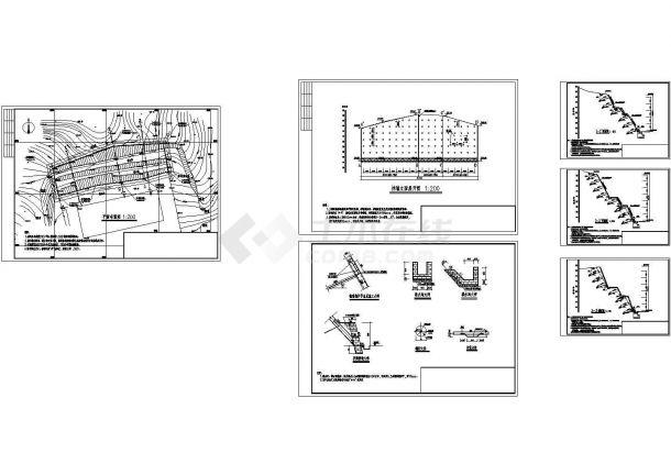 某工程锚杆挡墙全套施工成套图纸-图二