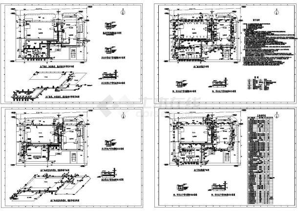 某厂区室外给排水管网系统设计cad图纸-图一