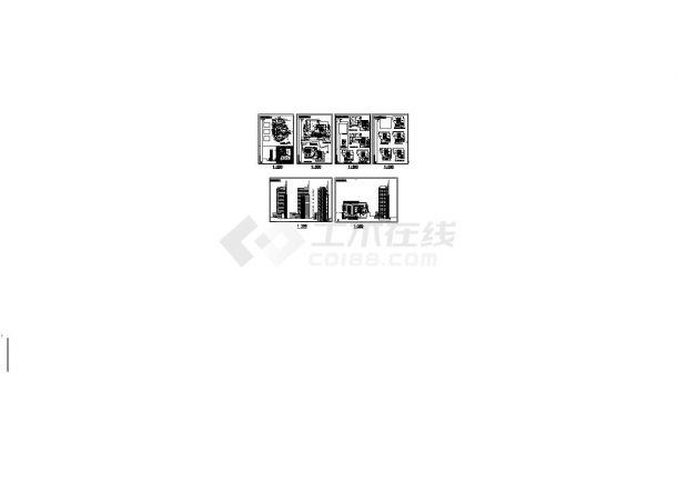 苏州世纪阳光苑高层住宅楼建筑设计方案cad图,共6张-图一
