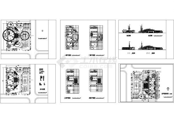 某地私立小学教学楼建筑设计方案图,共6张图纸-图一