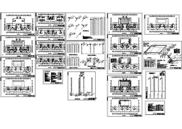 某十七层住宅楼给排水设计图,含设计说明-图一