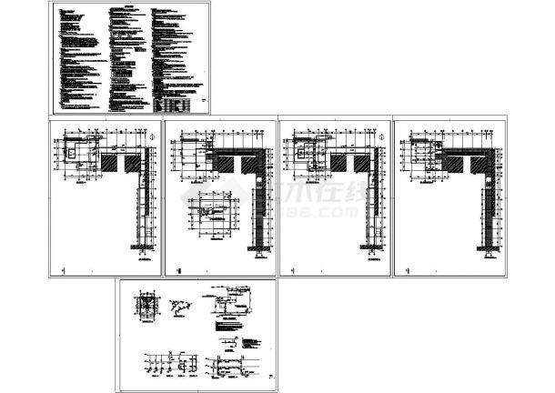 垃圾站+养老服务中心食堂连廊--水设计-图一