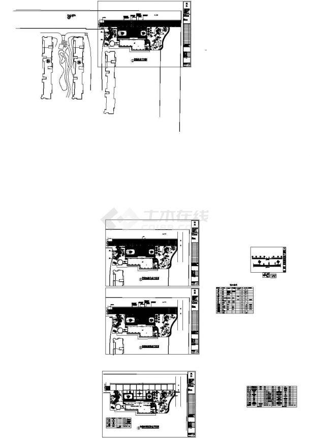江苏华汇康城居住区售楼处全套施工cad图纸(包含:给排水照明)-图一