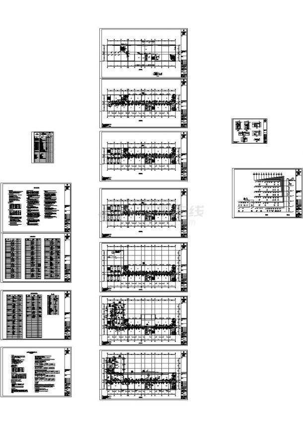 工业厂区多层办公楼空调通风系统设计施工图-图一