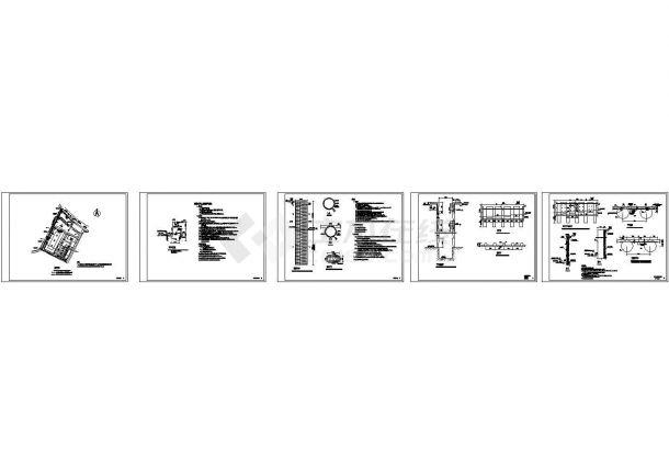 重力式+桩板式挡土墙设计cad全套结构施工图(含设计说明)-图一