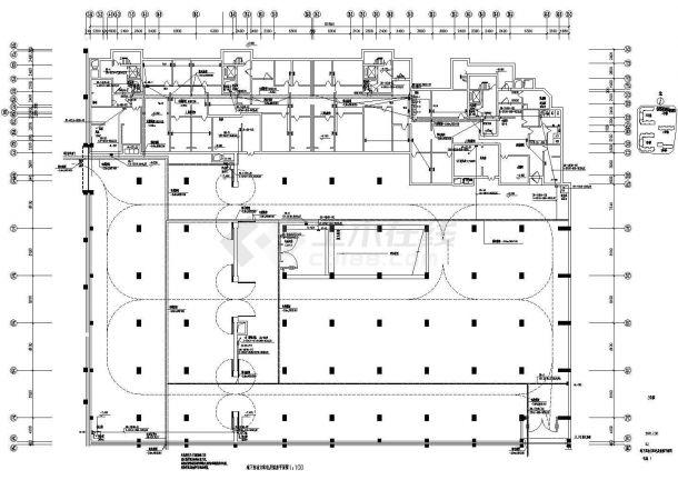 大型住宅群住宅地下车库电气设计施工cad图,共二十三张-图一
