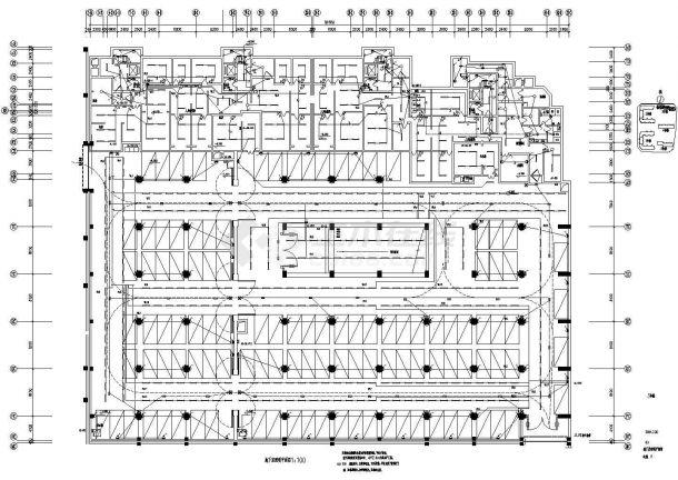 大型住宅群住宅地下车库电气设计施工cad图,共二十三张-图二