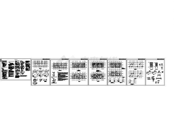 某五层办公楼结构全套cad设计施工方案图,含结构说明-图一