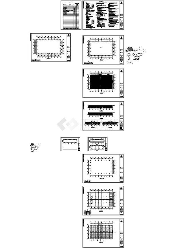 某跨度20米单层门式钢结构厂房建筑施工图纸,含钢结构设计说明-图一