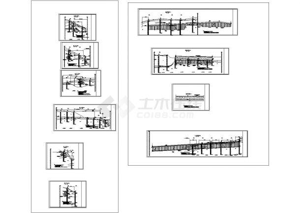 20米高边坡板肋式锚杆挡墙支护cad施工图,16张图纸-图一