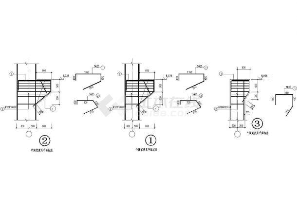 典型混凝土牛腿节点画法cad图纸(标注详细)-图一