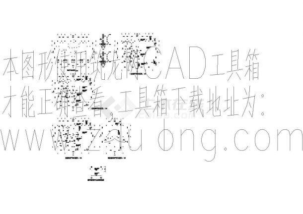 某三层别墅结构设计施工图-图一