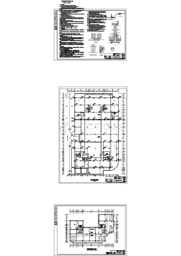 鹏泰国际财富大厦防雷接地设计cad全套施工图(含设计说明)-图一