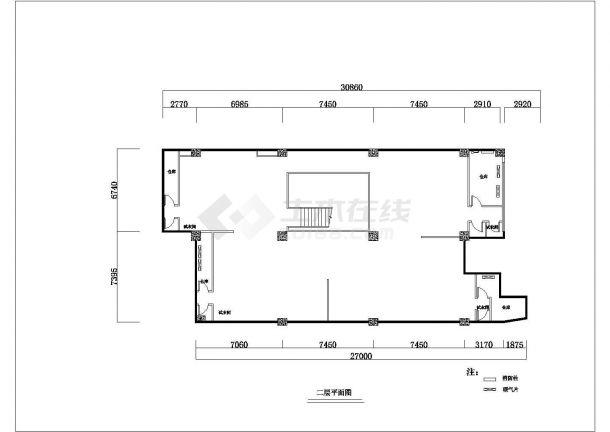 某乔丹专卖店改造装修设计cad 详细施工图-图二