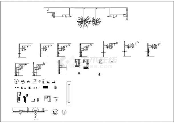 武汉奥特莱斯服装专卖店时尚风格装修设计cad全套施工图-图二