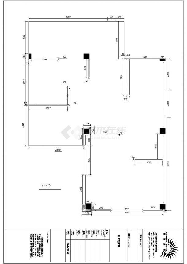 思可达家具专卖店室内装修设计cad全套施工图-图二