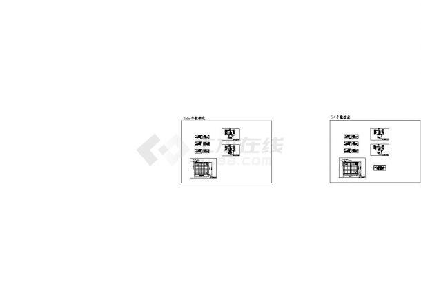 南京某住宅小区监控、弱电工程设计cad全套施工图纸(含两套方案设计)-图一
