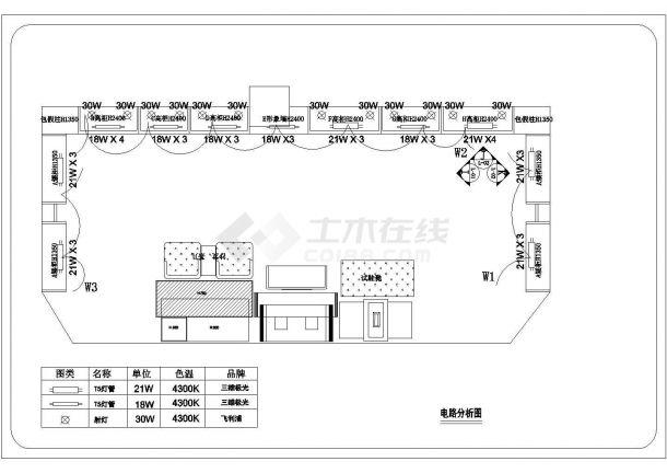 某专卖店装修设计cad平面布局图(含电气设计)-图二
