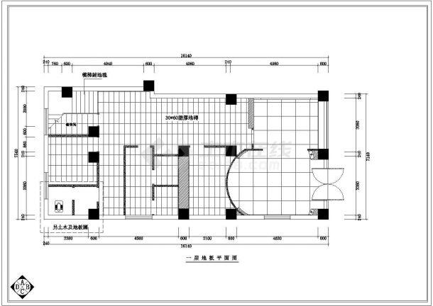 佐登妮丝专卖店装修设计cad详细施工图(甲级院设计)-图二