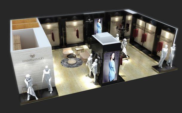 奉化银泰百货SV店装修设计cad全套施工图(含效果图)-图一