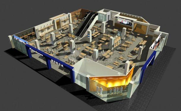 美特斯邦威武汉旗舰店装修设计cad整套施工图(带效果图)-图一