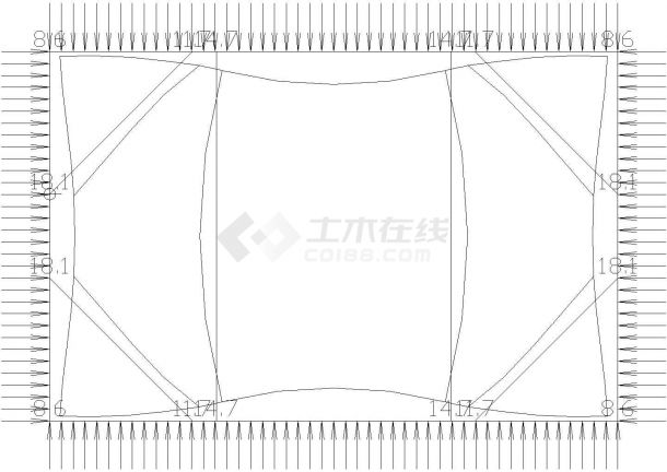 [浙江]顶管工作井深基坑SMW工法桩及钢管支撑支护施工图(附计算模型)-图二