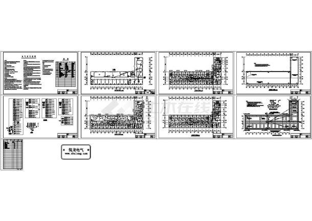 某1869㎡五层砖混结构办公楼配电设计cad全套电气施工图(含设计说明)-图二