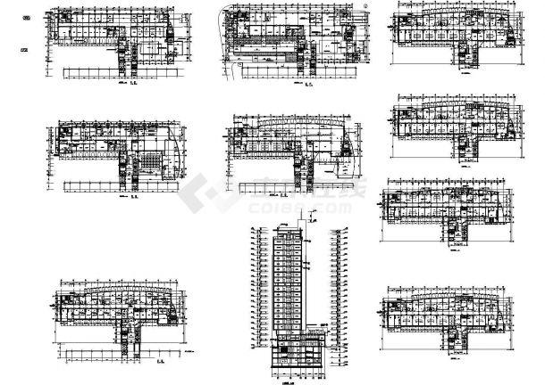某医院住院部设计cad建筑施工图(甲级院设计)-图一
