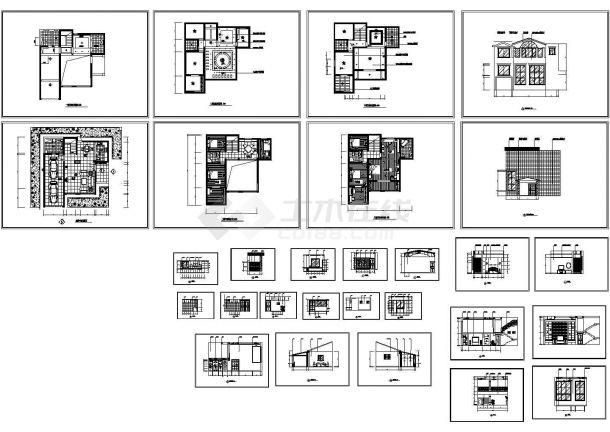 11套三层各式风格别墅装修设计施工图(标注详细)-图一