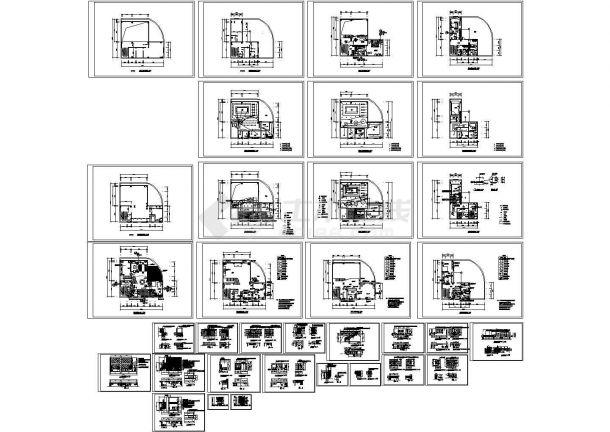11套三层各式风格别墅装修设计施工图(标注详细)-图二