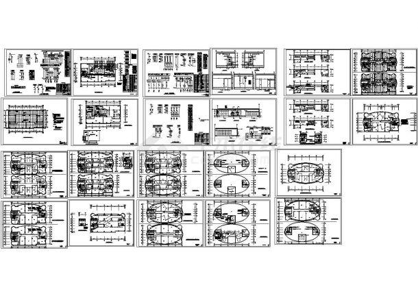 某高层办公楼电气施工图(共22张CAD图纸)-图一