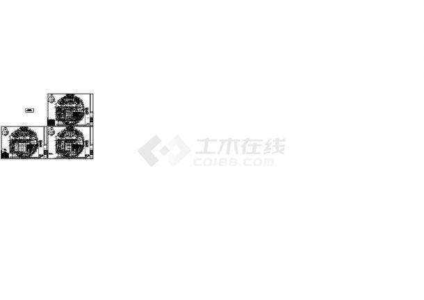 江苏某大学图书馆空调通风设计施工CAD图(大院设计 含装修图纸)-图一