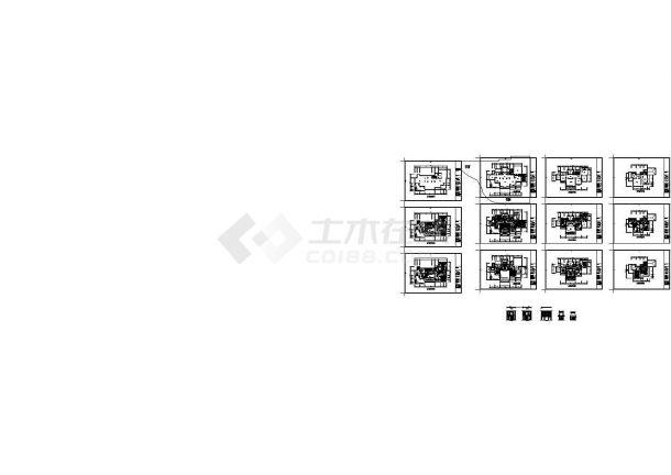 二层别墅室内装修平面设计图纸(长22.97米 宽14.36米 )-图一