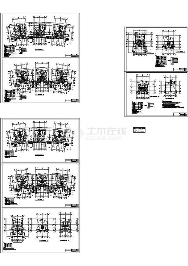 五层住宅楼防雷工程设计及电气施工cad图纸,共七张-图一