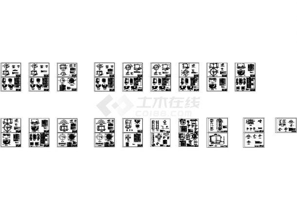 经典水池、水塔设计cad图纸资料合集(精细高位水塔图,共37图)-图一