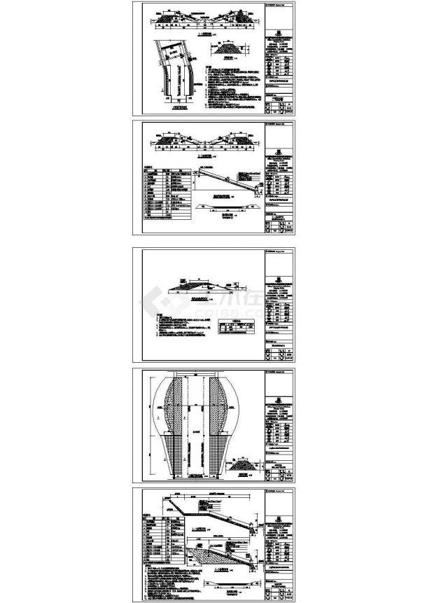 某工程水利护坡堤坝维修设计cad施工图(含设计说明)-图一