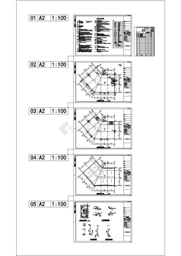 [安徽]30层一类住宅建筑给排水施工图纸-图二