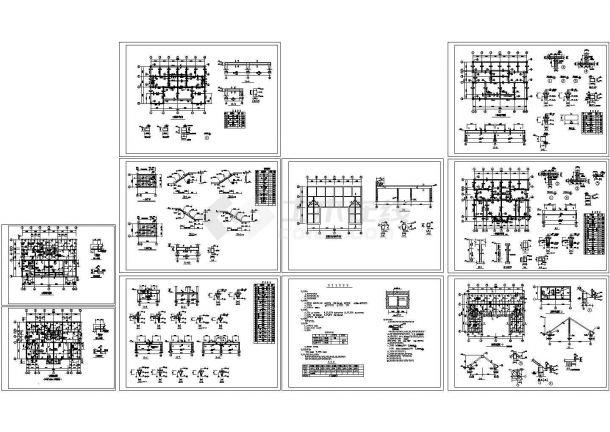 某砖混别墅结构设计施工图-图一