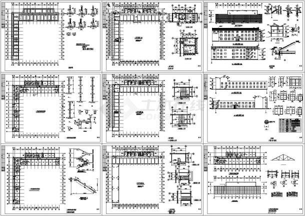 某三层转混住宅楼建筑结构设计施工图纸-图二