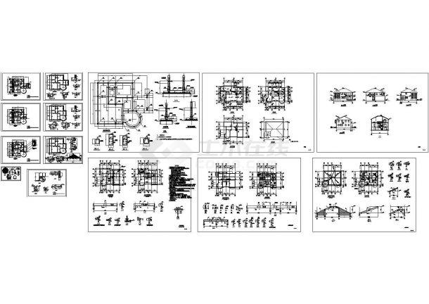别墅建筑结构设计施工图纸-图一