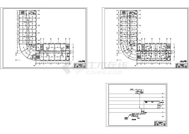 某大酒店消防喷淋改造施工cad图,共三张-图一