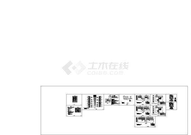 民用建筑光伏集中发电系统电气图纸-图二