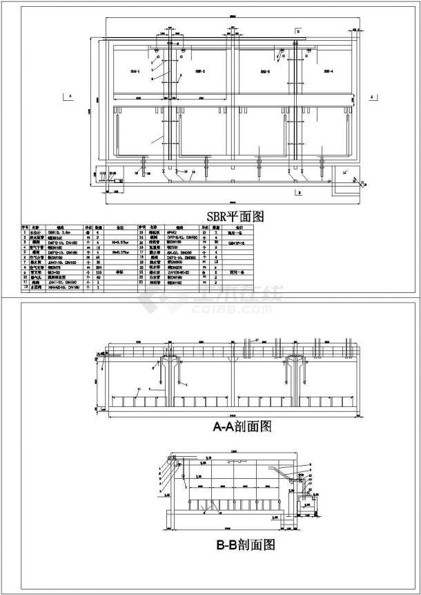 青岛某啤酒厂污水处理工艺工程设计施工全套图纸-图一