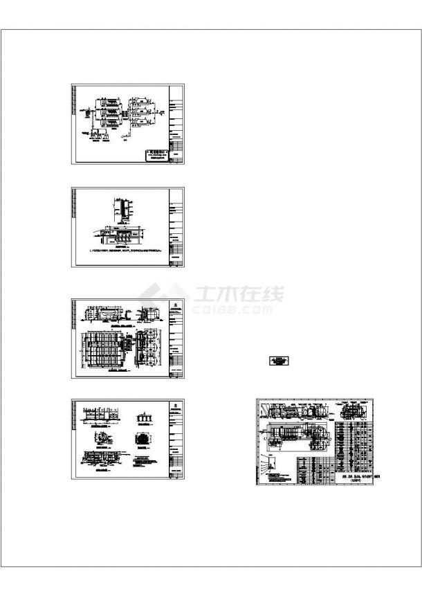 某钢制一体化供水工程设计施工CAD图纸-图一