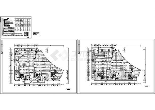 地下层火灾自动报警及消防联动控制系统设计施工cad图,共三张-图一