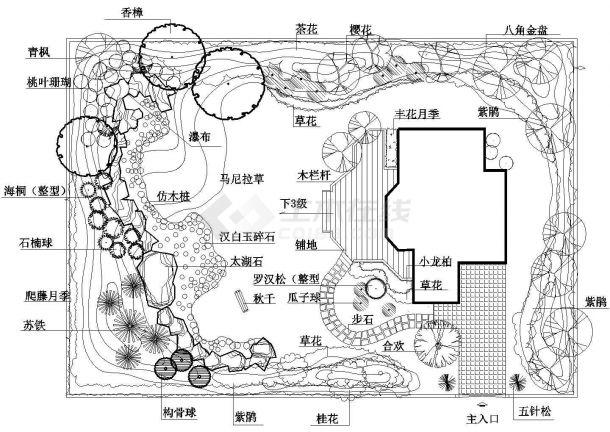 小庭院园林设计图1张-图二