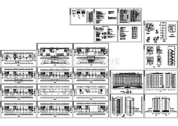 某大型独栋办公楼建筑设计cad全套施工图(含设计说明)-图一