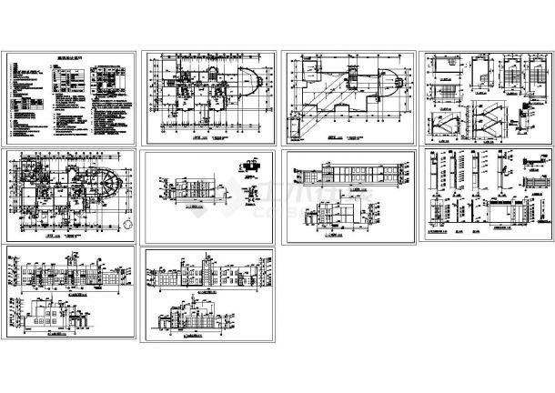 2层1123.36平米砖混结构幼儿园建筑施工图(节点大样 建筑设计说明)-图一