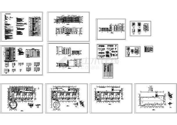 3层2607.33平米幼儿园建筑施工图(总说明 节能说明 1JPG外观效果图)-图一