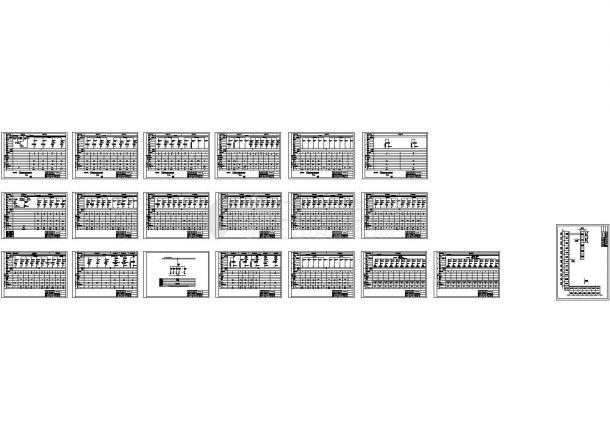 某化工厂低压开关柜系统图纸-图二